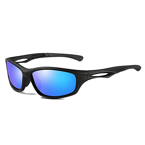CHEREEKI Sport Sonnenbrille, Ultralight Polarisierte Sportbrille mit UV400 & TR90 Anti-Reflective für Draußen