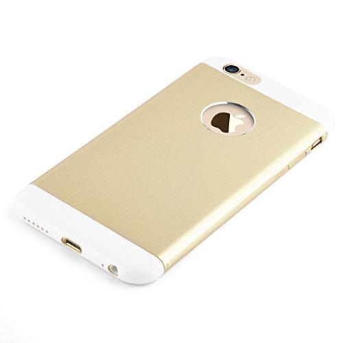 JAMMYLIZARD   Dreiteilige Aluminium Schutzhülle für [ iPhone 6 & 6s 4.7 Zoll ], GOLD Duo - GOLD