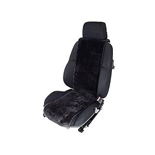 Autositz-Auflage aus Lammfell für Ledersitze 30cm Breite x 138cm Länge (Farbe Schiefer) KEINE HEISSEN SITZE IM SOMMER
