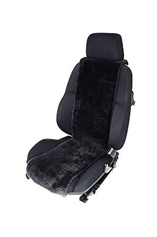 Autositz-Auflage aus Lammfell für Ledersitze 30cm Breite (Farbe Schiefer) Lederrückseite ohne Stoffkaschierung (Direkt vom Hersteller)