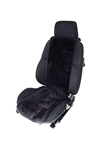 Autositz-Auflage aus Lammfell für Ledersitze 30cm Breite x 138cm Länge (Farbe Schiefer) KEINE...