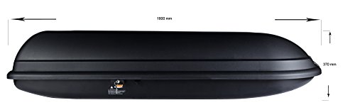 BB-EP Dachbox - 430 Liter - 180x78x37 cm in schwarz - inkl. Montagematerial – TÜV/GS