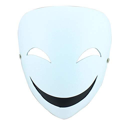 HANYF Die Harzmaske des Clowns Smiley Face, Die Halloween Collector's Edition Der Inky Bullet Shadow - Der Shadow Mann Kostüm
