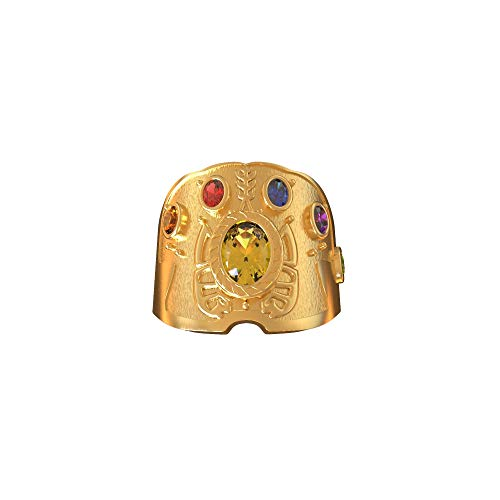 Kostüm Ringe Gold - Chiefstore Infinity Gems Ring Soul Stone Thanos Ring Gold Kupfer Power Ring Film Cosplay Kostüm Zubehör Halloween Kleidung Schmuck Kollection für Erwachsene (Ring)