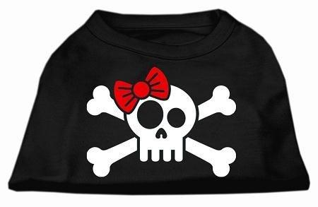 Mirage Pet Products Totenkopf mit gekreuzten Knochen, Hunde-T-Shirt, XL, Schwarz -