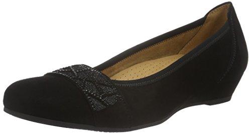 Gabor Shoes Comfort Sport, Scarpe con Tacco Donna Nero (schwarz schwarz)