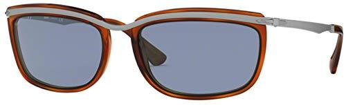 Ray-Ban Herren 0PO3229S Sonnenbrille, Blau (Light Havana), 60.0