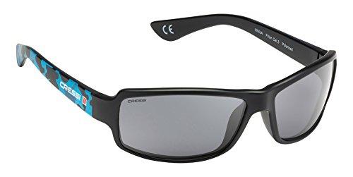 Cressi Ninja Gafas de Sol, Unisex Adulto, Azul Camou/Lentes Gris Oscuro, Talla Única