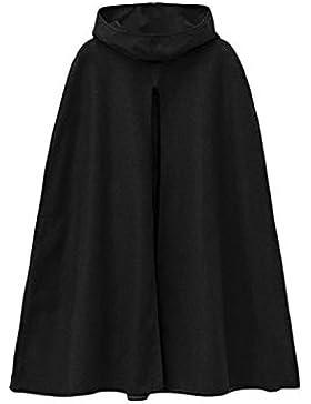 La Mujer Otoño Invierno Elegante Maxi Capa Con Capucha Chaqueta Outwear