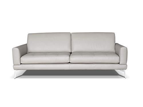 Alkove, divano in pelle modello modena, stile moderno, 3 posti