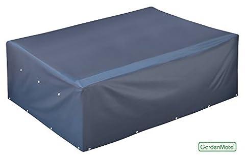 GardenMate® Housse protectrice pour table de jardin rectangulaire en tissu Oxford 220 g/m²