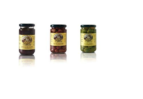 IL CAVALLINO - Olive verdi, Olive nere e Paté di olive