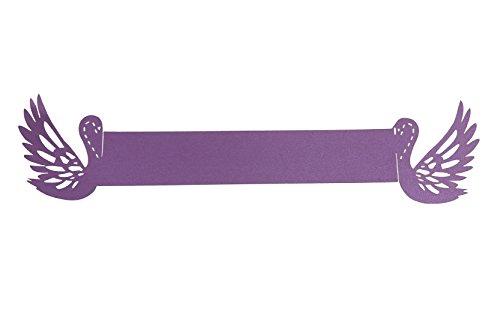 r-Schnitt-Papier-Serviette-Ringe für Hochzeit Party Dekoration Lila-100 PCS ()