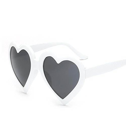 Aoligei Europa und die Vereinigten Staaten großen Rahmen Sonnenbrillen Männer lieben und Frauen Mode Sonnenbrillen Persönlichkeit hundert herzförmigen p Jedes Herz Sonnenbrille