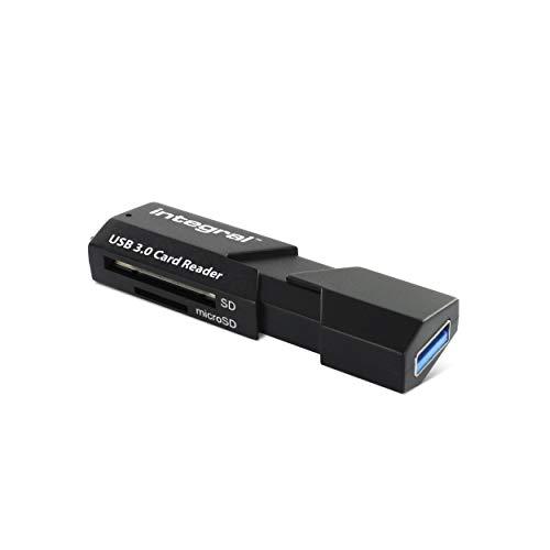 Minisdhc Flash-karte (Integral Memory INCRUSB3.0SDMSD USB 3.0 Multi-Kartenleser für SD/microSD schwarz)
