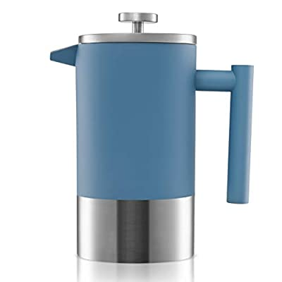 Double-Walled Stainless Steel French Press Cafetiere | Tea/Coffee Maker 1L EC from Gemyno