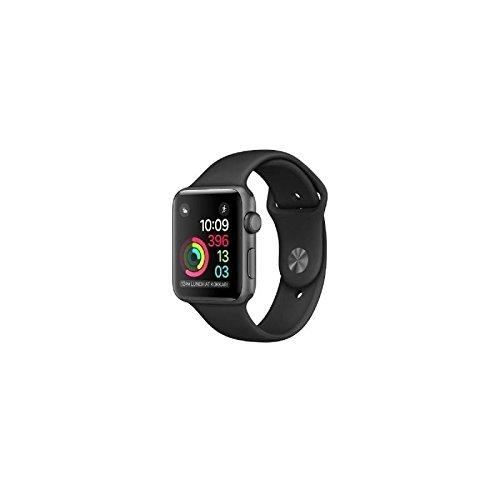 Apple Watch Series 2 Aluminium 38mm dunkelgrau mit Sportarmband spacegrau-schwarz