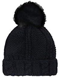 LIXUE Sombrero Mujer Otoño e Invierno Moda Coreana Pelota de Pelo Sombrero  de Punto Corea Invierno Cálido Sombrero de Lana Hermoso… f150fe474bf