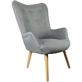 Sessel Esprit Vintage Im Skandinavischen Stil U2013 Ultra Komfortabel U2013 Achille  Hellgrau