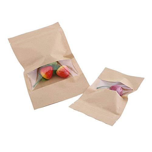 20 Sachets papier kraft alimentaire imperméable Enveloppe emballage résistant Paquet biodégradable (Lot de 20, Attention à la taille: 9*14cm)
