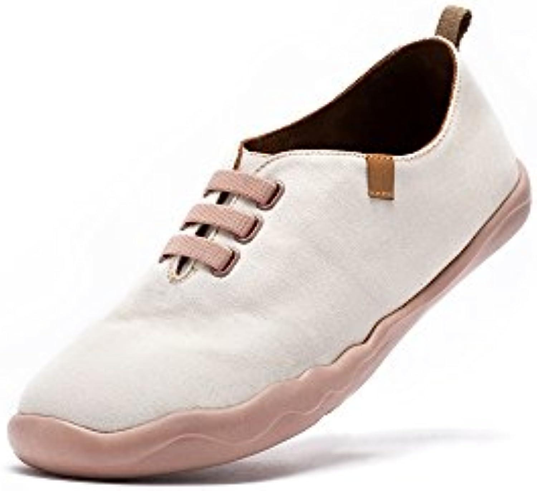 UIN Grecia White Zapato de lona impresa hueso para los hombres