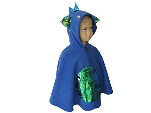 lloween kostüm cape für kleinkinder drache blau ()
