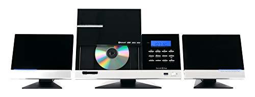 Bennett & Ross Tønsberg Vertikal HiFi Stereoanlage - Kompaktanlage mit CD und MP3-Player - Slot für USB-Sticks und SD-Karten - Bluetooth zur Verbindung mit Handy und Tablet PC - Schwarz