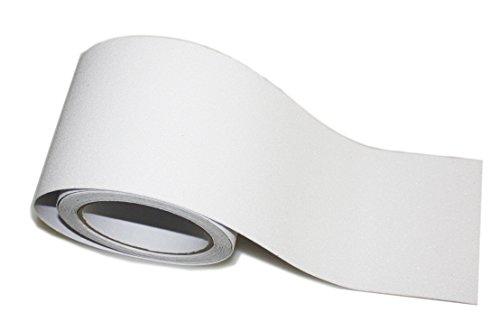 Antirutschmatte selbstklebend Profil, phosphoreszierendes und matt Teppich mit Anti-Rutsch Körnung für Stairway, Garten und mehr WxL 2''x16' weiß (Sicherheits-badewannen-trittstufen)