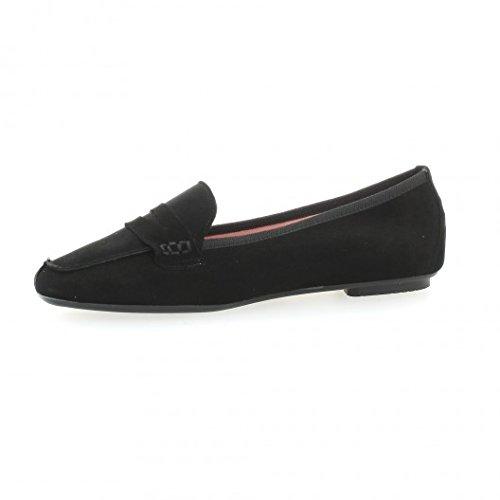 Pao Mocassins cuir velours noir Noir