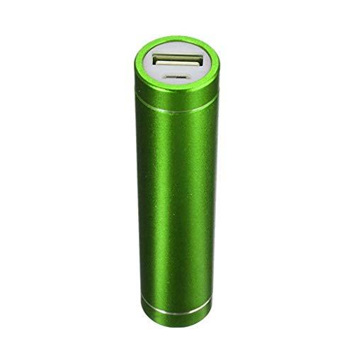 MChoice USB Power Bank Case Kit 18650 Akku-Ladegerät DIY Box, Size: 2.1x9cm/D*H, grün