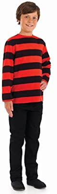 Fun Shack Childrens Red and Black Striped Jumper