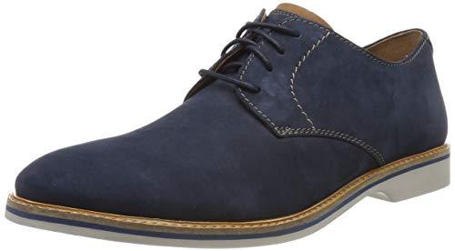 Clarks Herren Atticus Lace Derbys, Blau (Navy Nubuck), 42 EU (Von Clark Schuhe)