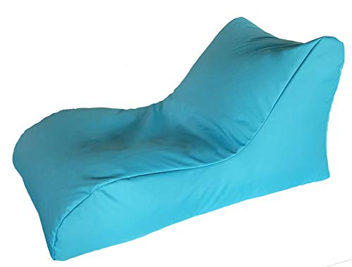 Quantum Interior Sitzsack mit Lehne, Relax Lounge, ca.70x60x125cm, (Türkis) -