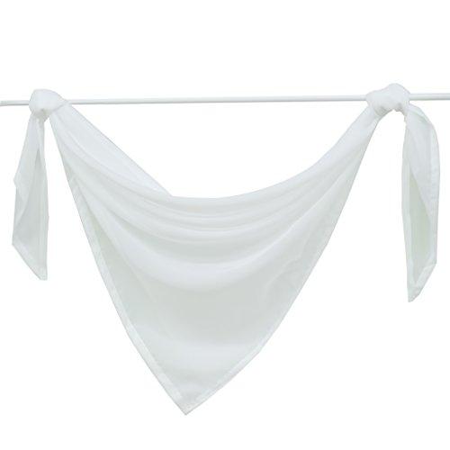 Querbehang Deko Gardinen aus transparentem Voile Schals H*B 500*145cm Grau