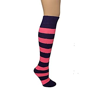 AJs Striped Socks, Junior - Purple/Pink