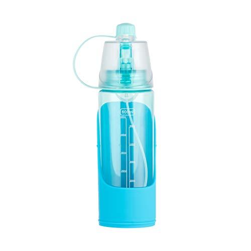 MA87 Haustier Flasche Für tragbare Reisen Wasser Getränkebecher Dispenser Menschen Haustier Dual Use (Blau) -