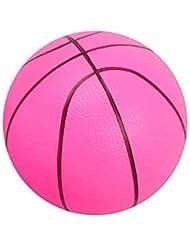 Ogquaton Balle en Mousse Souple Mini Basketball Enfant Éducation précoce Balle Ronde PVC Jouet pour Enfants Ou Débutant Jouer Rose