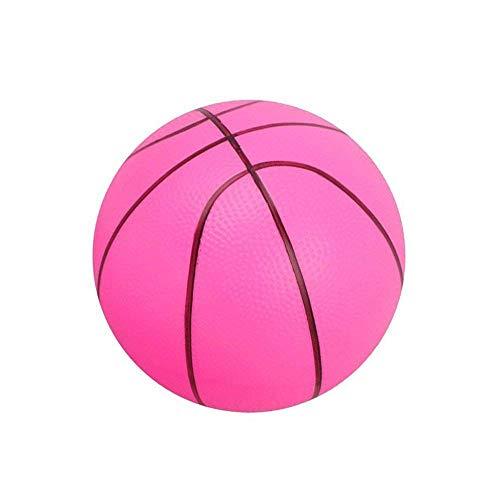 Ogquaton Weichschaumball Mini Basketball Kind Früherziehung Ball Runde PVC Spielzeug für Kinder Oder Anfänger Spielen Rosa - Ball Basketball-spiel