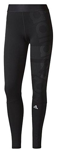 adidas Damen Techfit Long Logo Tights, Black, XL (Logo Tights Adidas)