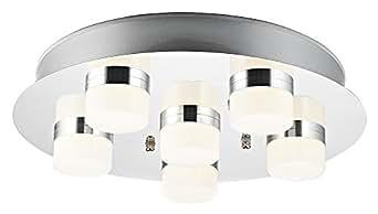 Plafoniera Tetto : Grande lampada a tetto per bagno led in cromo con diffusori opali
