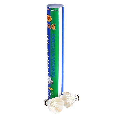 e, 12 Stück Langlebig Stabile Weiß Advanced Teal Federn Badminton Shuttlecocks für Sport Training Outdoor Indoor Spielen Spaß ()