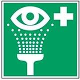 Escudo: el lavado de ojos 14,8 x 14,8 cm PVC de acuerdo con ASR A 1,3/Unidades A8/DIN 4844
