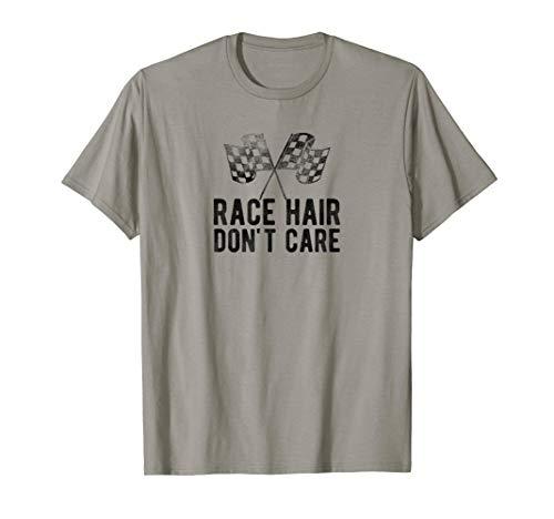 Race Hair Don't Care Drifter, Drag Racing T-Shirt Drifter Shift