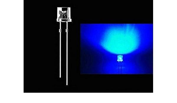 tecnostore/® 10/x LED 5/mm hohe Leuchtkraft Flat Top wei/ß blau rot gr/ün gelb Licht Dioden gr/ün