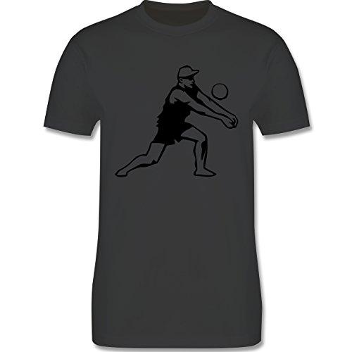 Volleyball - Volleyball - Herren Premium T-Shirt Dunkelgrau