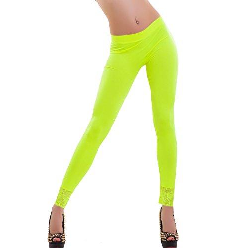 Toocool Damen Leggings Neongelb