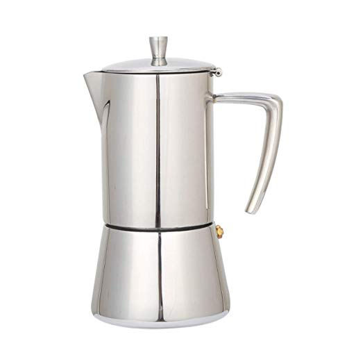 Kaffeekanne, Kaffeekanne Edelstahl-Kaffeegeschirr Italienisch Extraction Konzentrierte Mokka Kaffeekanne Für Privatanwender (6 Tassen)