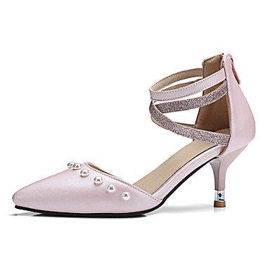 LvYuan Sandalen-Hochzeit Kleid Party & Festivität-PU-Niedriger Absatz-Komfort-Schwarz Rosa Pink