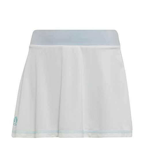 Adidas Tennis Rock (adidas Mädchen Parley Tennisrock, White/Easy Blue, 140)