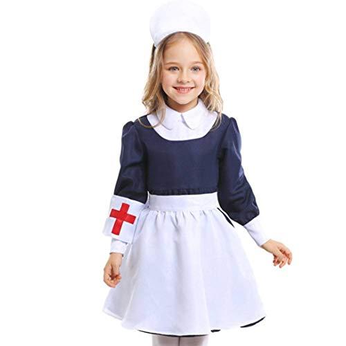 DUQA Kinderkleidung Halloween Dienstm?dchen Kost¨¹m Set niedliche kleine M?dchen Krankenschwester Kleidung 3-9 Jahre alt